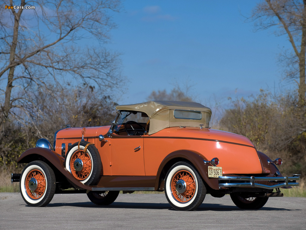 Hudson Greater Eight Sport Roadster 1931–33 wallpapers (1024 x 768)
