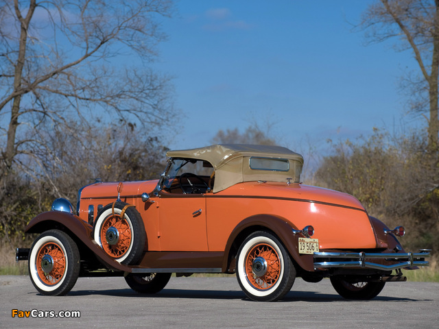 Hudson Greater Eight Sport Roadster 1931–33 wallpapers (640 x 480)
