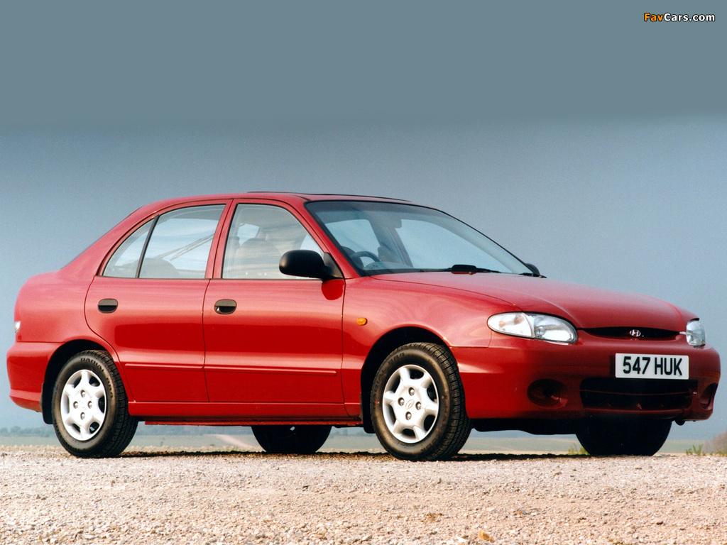 Hyundai Accent 5-door 1996–2000 images (1024 x 768)