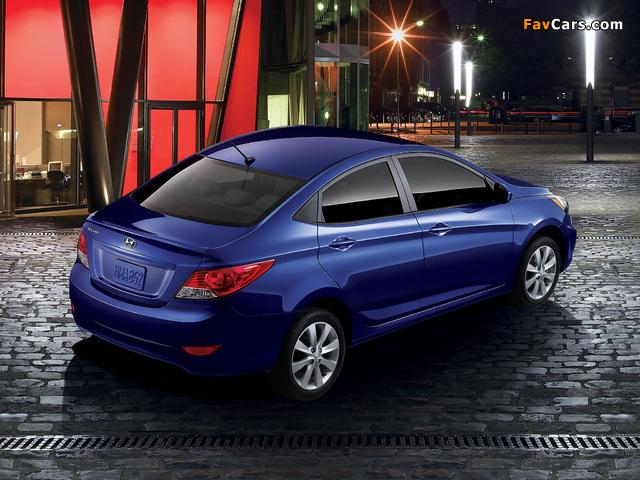 Hyundai Accent US-spec (RB) 2011 pictures (640 x 480)