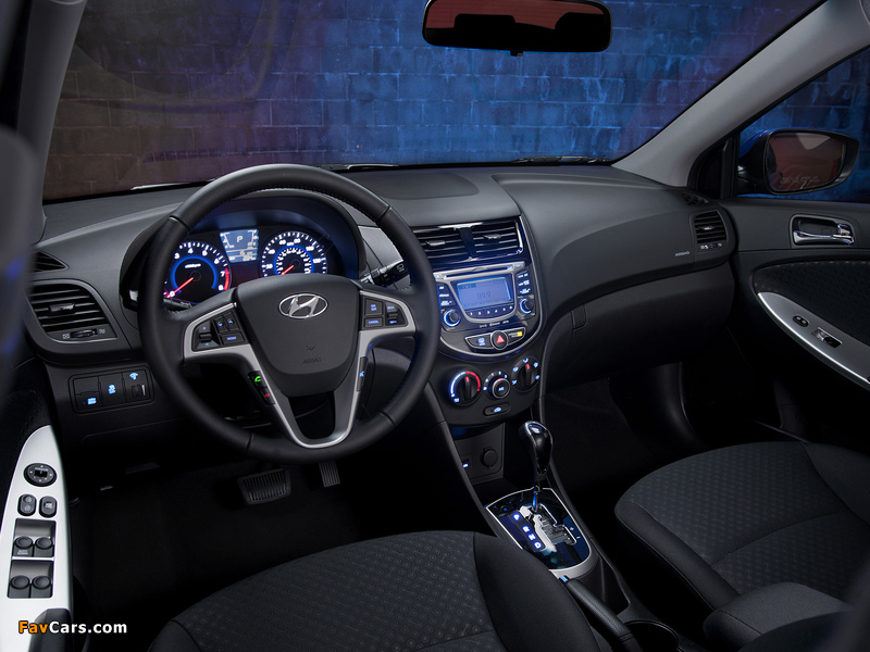 Hyundai Accent US-spec (RB) 2011 wallpapers (800 x 600)