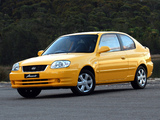 Photos of Hyundai Accent 3-door AU-spec 2003–06