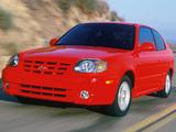 Photos of Hyundai Accent 3-door US-spec 2003–06