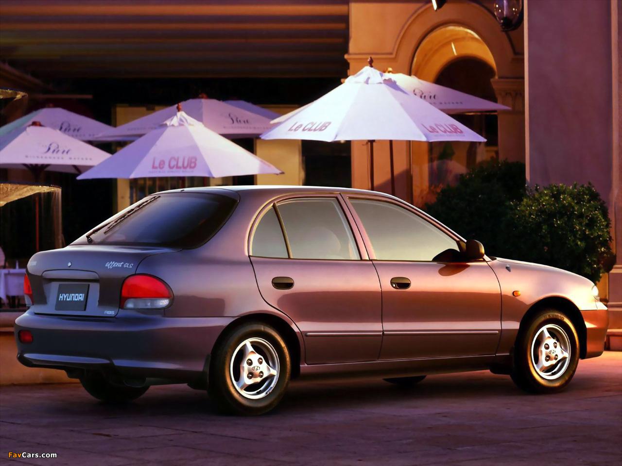 Hyundai Accent 5-door 1996–2000 wallpapers (1280 x 960)