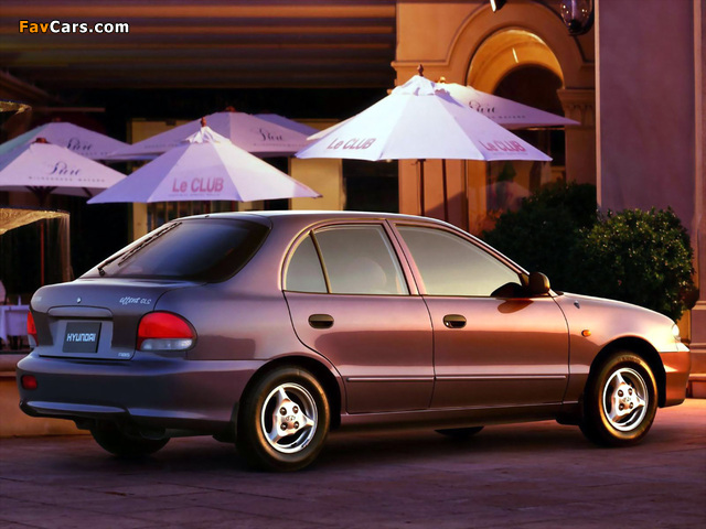 Hyundai Accent 5-door 1996–2000 wallpapers (640 x 480)