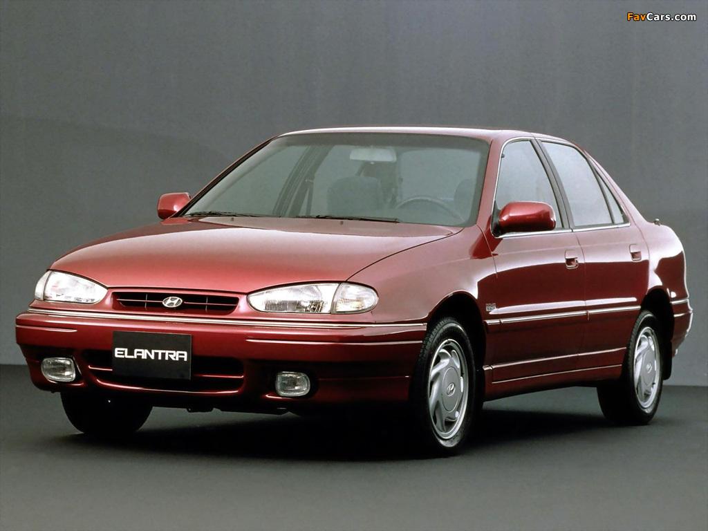 Hyundai Elantra (J1) 1993–95 wallpapers (1024x768)