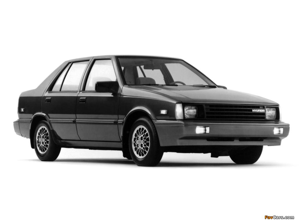 Hyundai Excel Sedan (X1) 1985–89 images