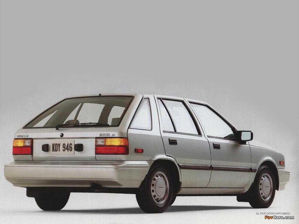 Hyundai Excel 5-door (X1) 1985–89 photos