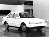 Hyundai Excel Sedan (X2) 1989–92 wallpapers