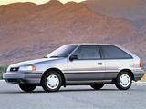 Images of Hyundai Excel 3-door (X2) 1992–95