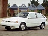 Photos of Hyundai Excel 3-door (X2) 1992–95