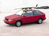 Hyundai Excel 3-door (X2) 1989–92 wallpapers