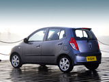 Hyundai i10 UK-spec 2007–10 wallpapers