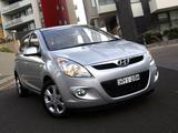 Pictures of Hyundai i20 5-door AU-spec 2010–12