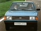 Photos of Hyundai Pony Hatchback 1982–90