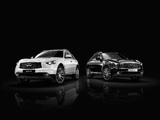 Infiniti FX Black and White (S51) 2013 wallpapers