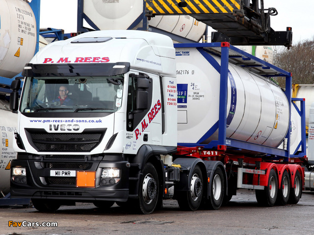 Iveco EcoStralis Hi-Road 460 6x2 UK-spec 2013 images (640 x 480)