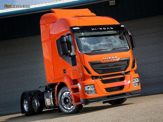 Pictures of Iveco EcoStralis Hi-Road 460 6x2 UK-spec 2013 (640 x 480)