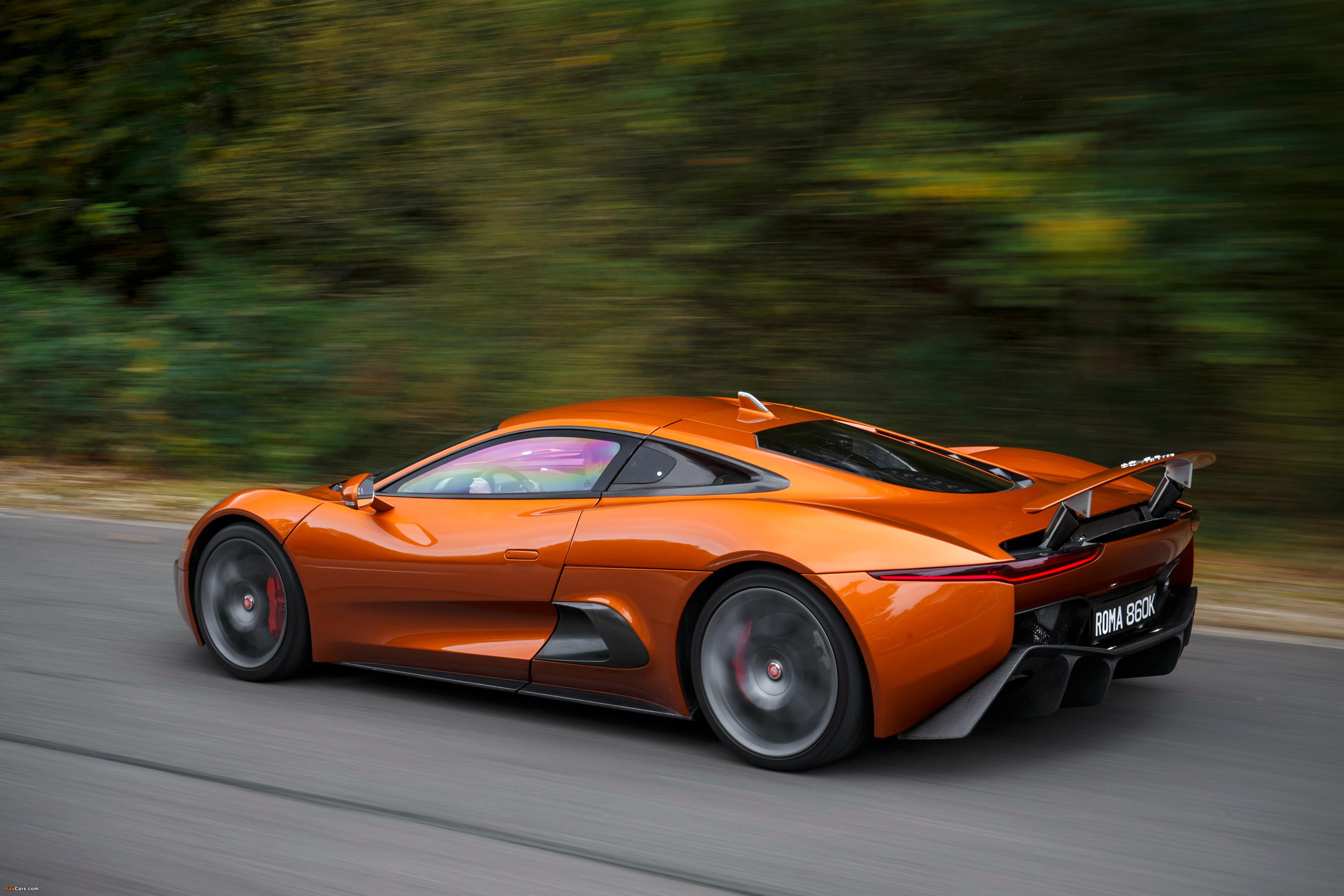 синий спортивный автомобиль jaguar c-x75 скачать