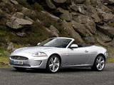 Jaguar XKR Convertible UK-spec 2009–11 wallpapers