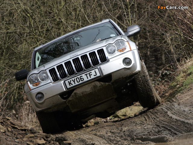 Photos of Jeep Grand Cherokee CRD Limited UK-spec (WK) 2005–07 (640 x 480)