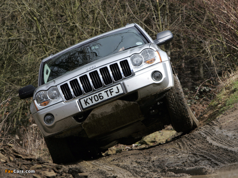 Photos of Jeep Grand Cherokee CRD Limited UK-spec (WK) 2005–07 (800 x 600)