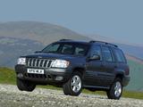 Photos of Jeep Grand Cherokee Overland UK-spec (WJ) 2001–03