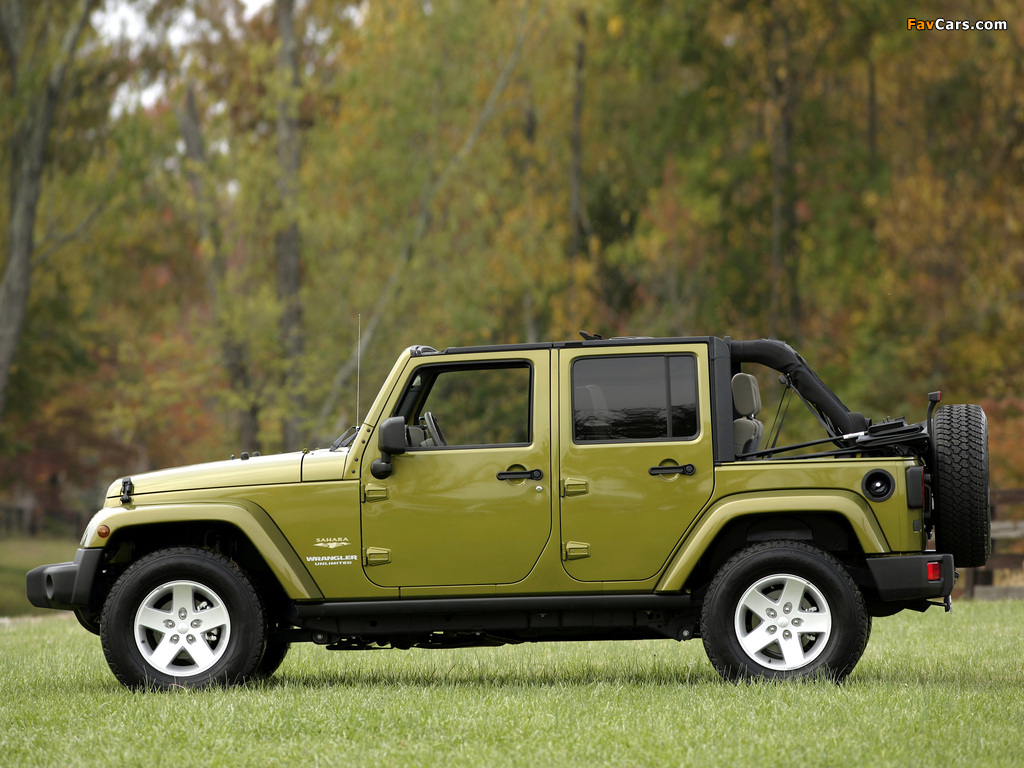 Images of Jeep Wrangler Unlimited Sahara EU-spec (JK) 2007 (1024 x 768)