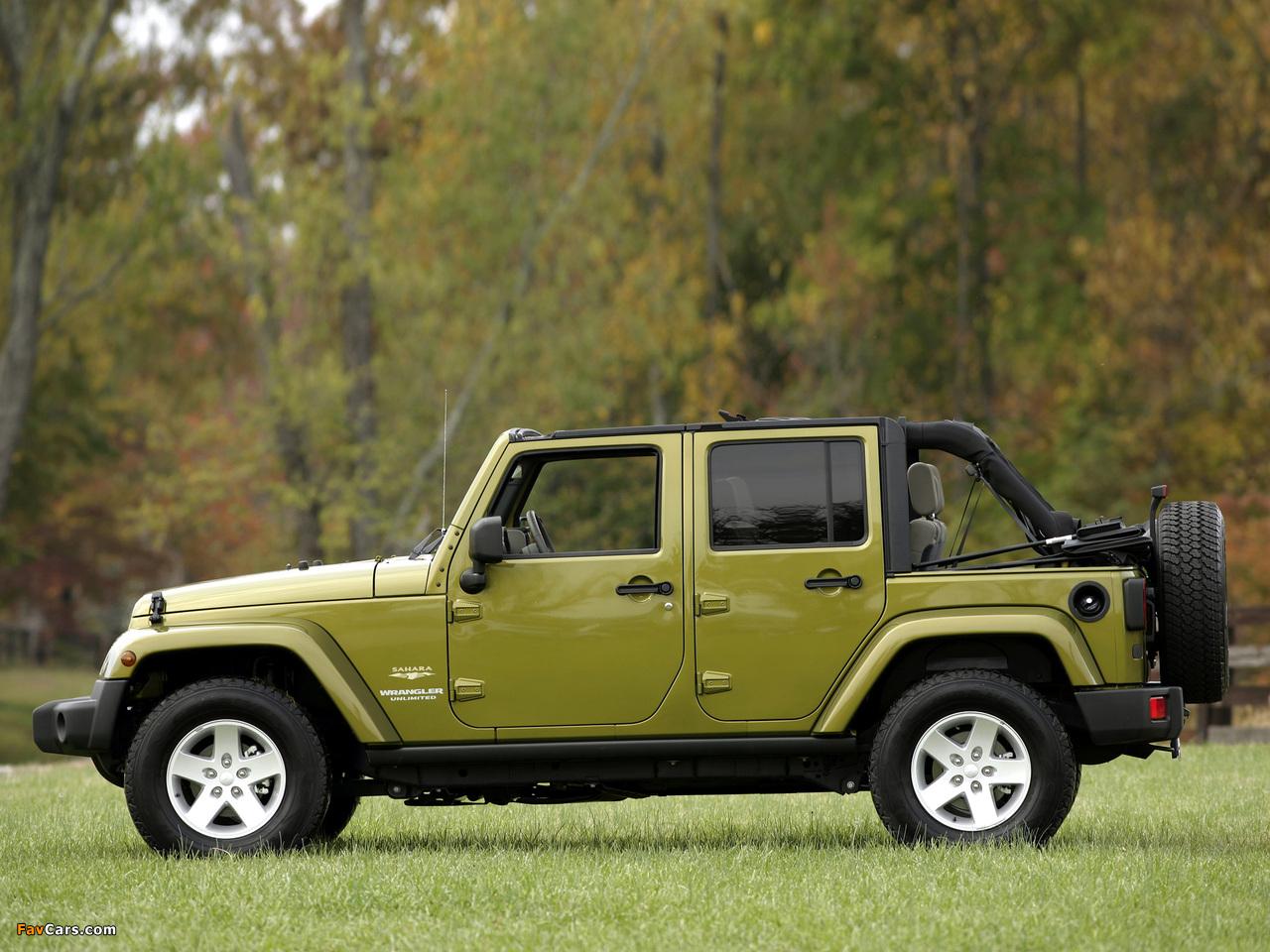 Images of Jeep Wrangler Unlimited Sahara EU-spec (JK) 2007 (1280 x 960)