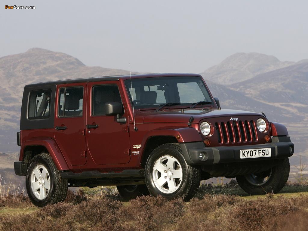 Images of Jeep Wrangler Unlimited Sahara UK-spec (JK) 2007–11 (1024 x 768)