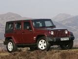 Images of Jeep Wrangler Unlimited Sahara UK-spec (JK) 2007–11