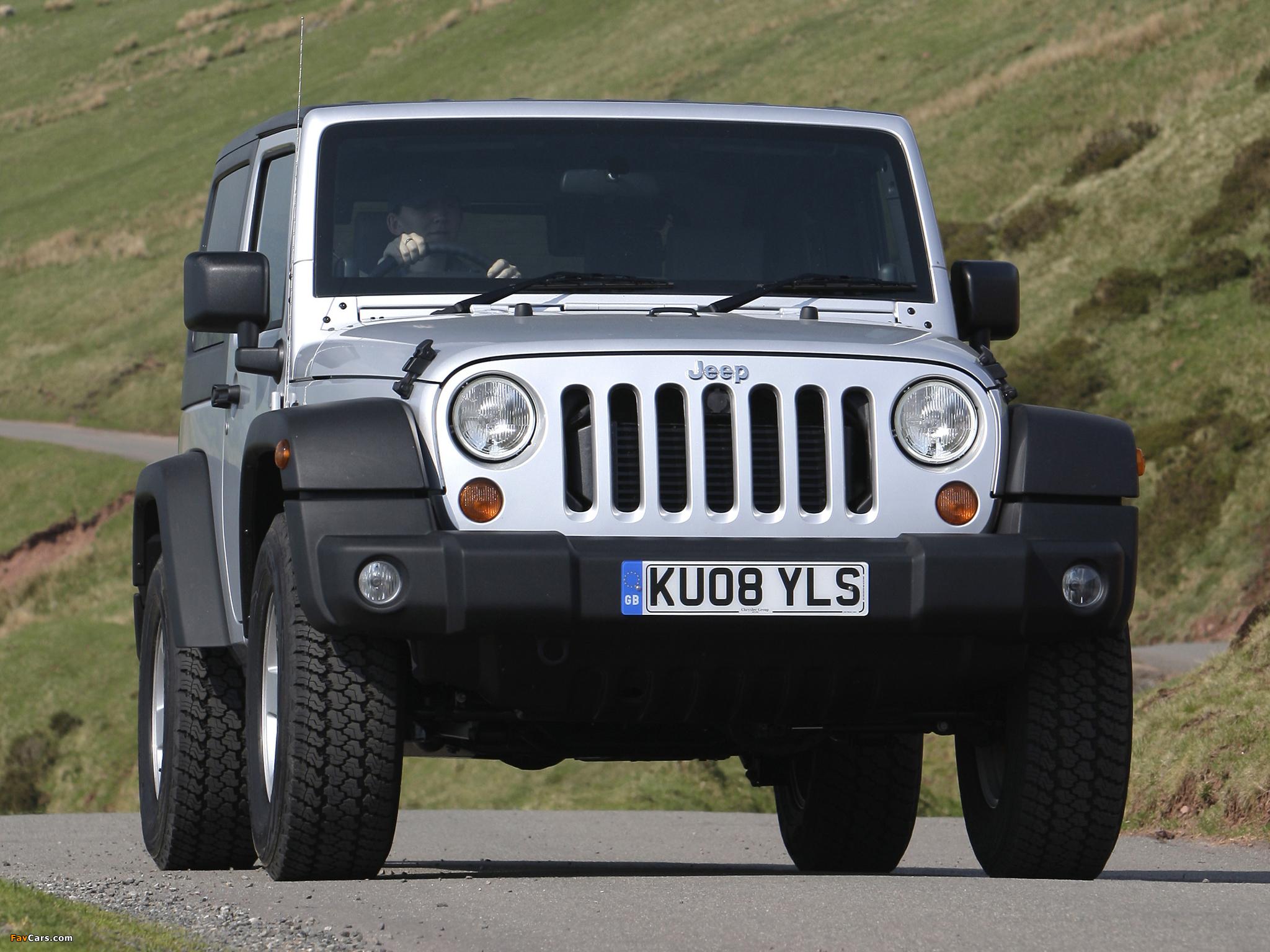 Images of Jeep Wrangler Sport UK-spec (JK) 2007 (2048 x 1536)