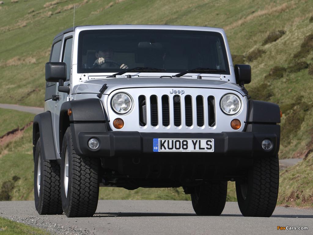 Images of Jeep Wrangler Sport UK-spec (JK) 2007 (1024 x 768)