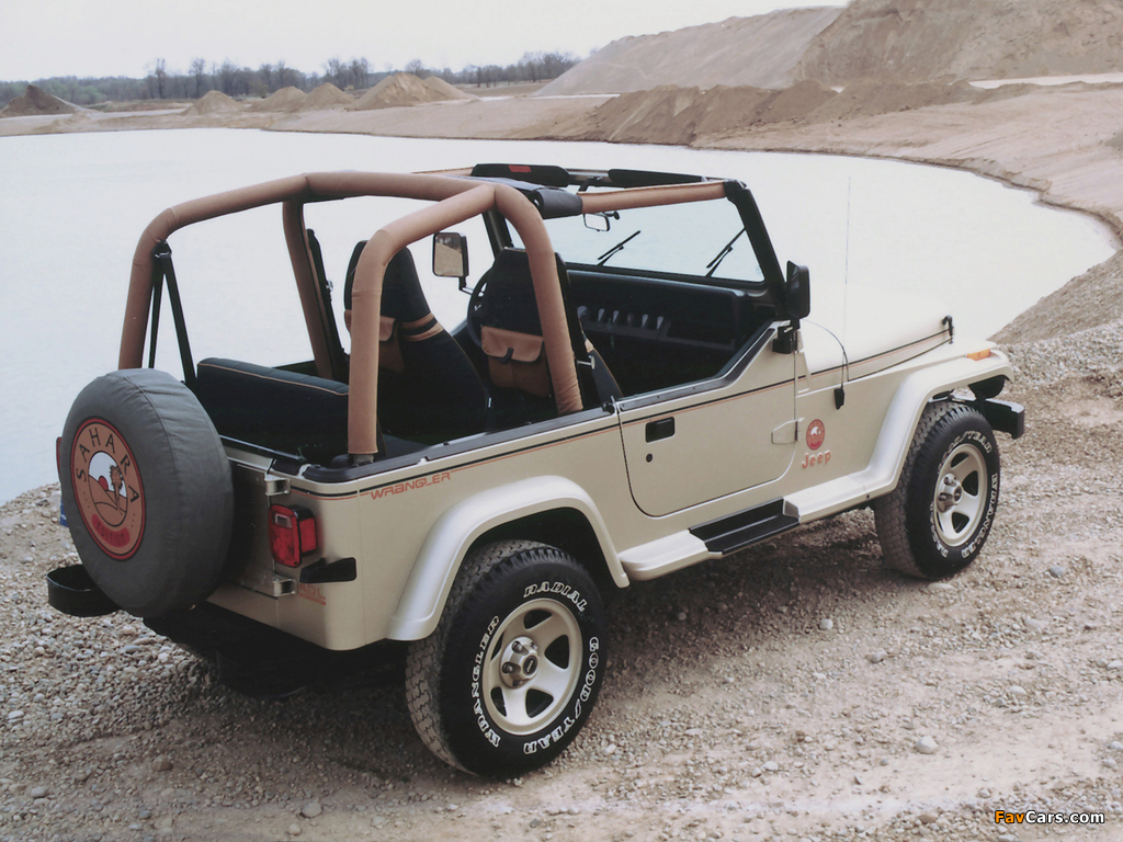 Jeep Wrangler Sahara (YJ) 1992 photos (1024 x 768)