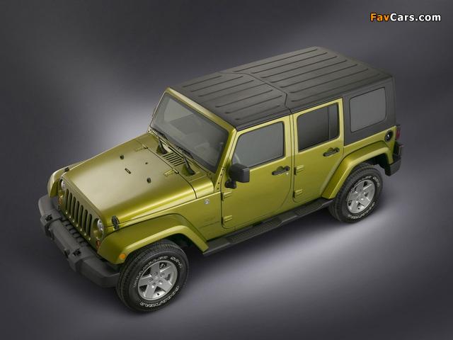 Jeep Wrangler Unlimited Sahara (JK) 2006–10 photos (640 x 480)