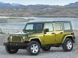 Jeep Wrangler Unlimited Sahara (JK) 2006–10 wallpapers