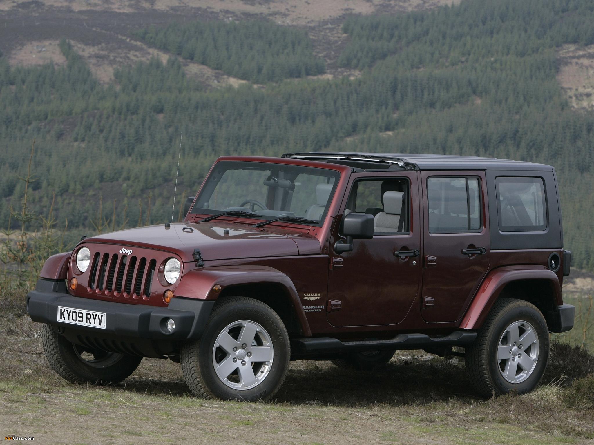 Jeep Wrangler Unlimited Sahara UK-spec (JK) 2007–11 images (2048 x 1536)