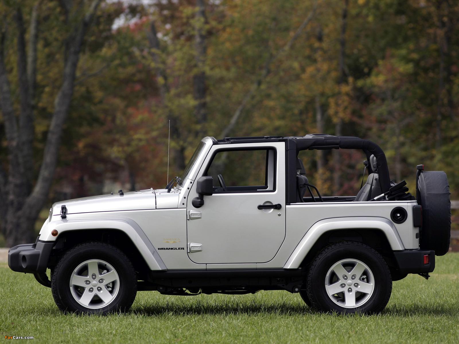 Jeep Wrangler Sahara (JK) 2007 images (1600 x 1200)