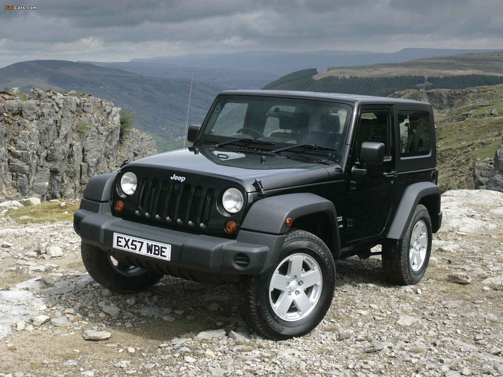 Jeep Wrangler Sport UK-spec (JK) 2007 images (1600 x 1200)