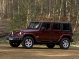 Jeep Wrangler Unlimited Sahara UK-spec (JK) 2007–11 photos