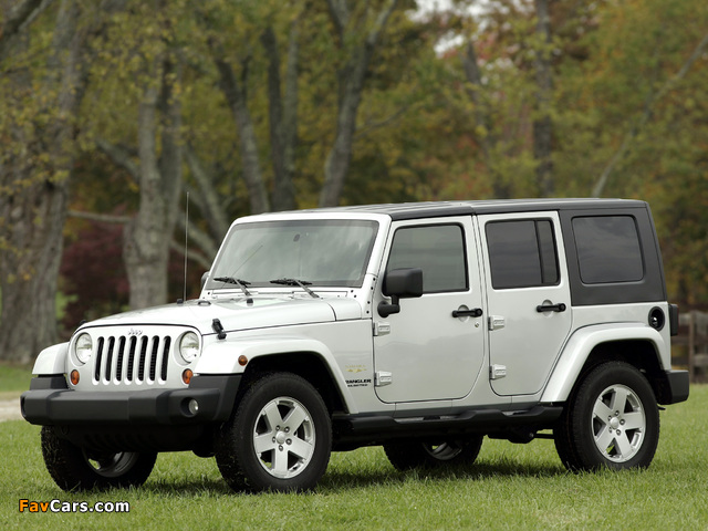 Jeep Wrangler Unlimited Sahara EU-spec (JK) 2007 pictures (640 x 480)