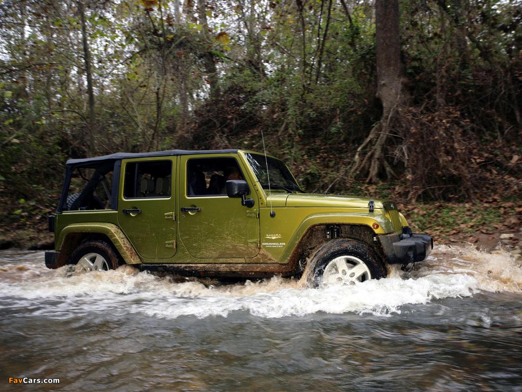 Jeep Wrangler Unlimited Sahara EU-spec (JK) 2007 pictures (1024 x 768)