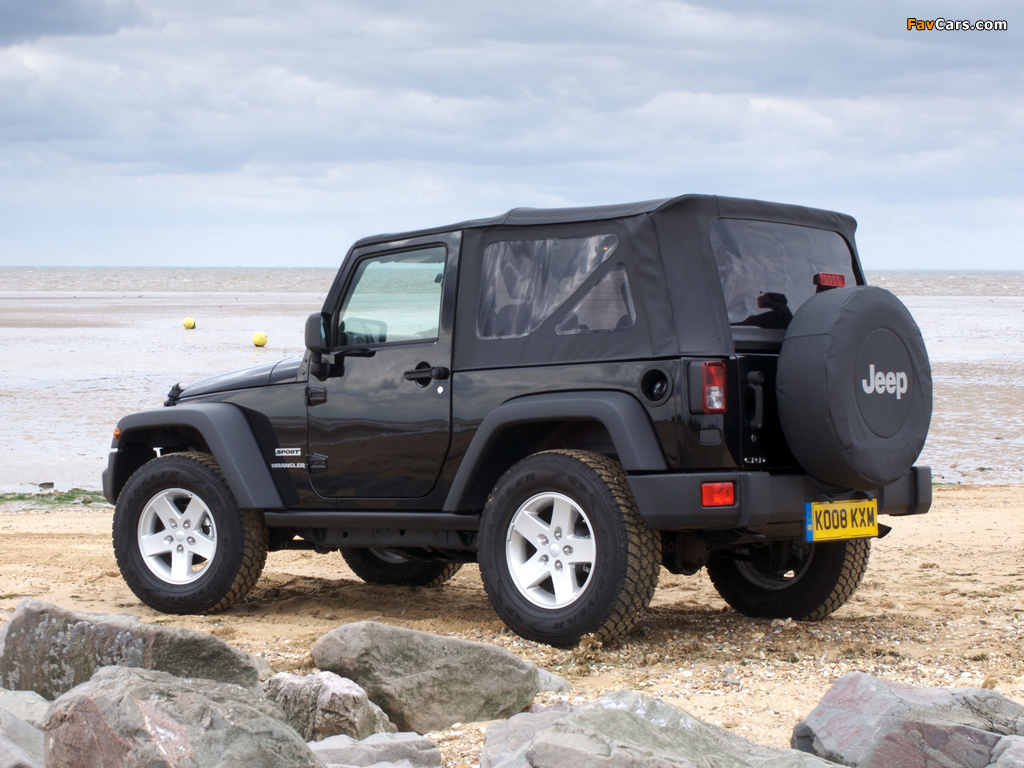 Jeep Wrangler Sport UK-spec (JK) 2007 pictures (1024 x 768)