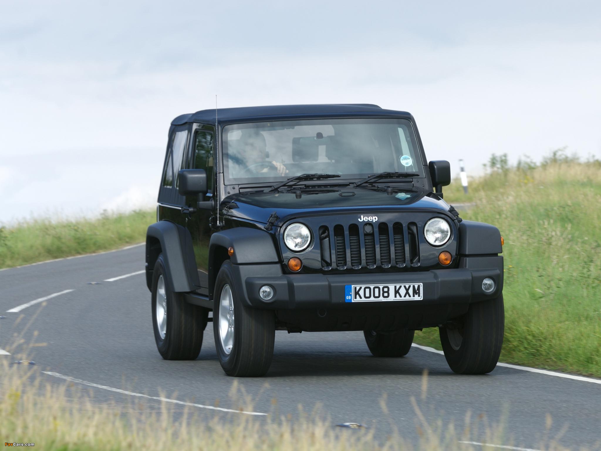 Jeep Wrangler Sport UK-spec (JK) 2007 pictures (2048 x 1536)