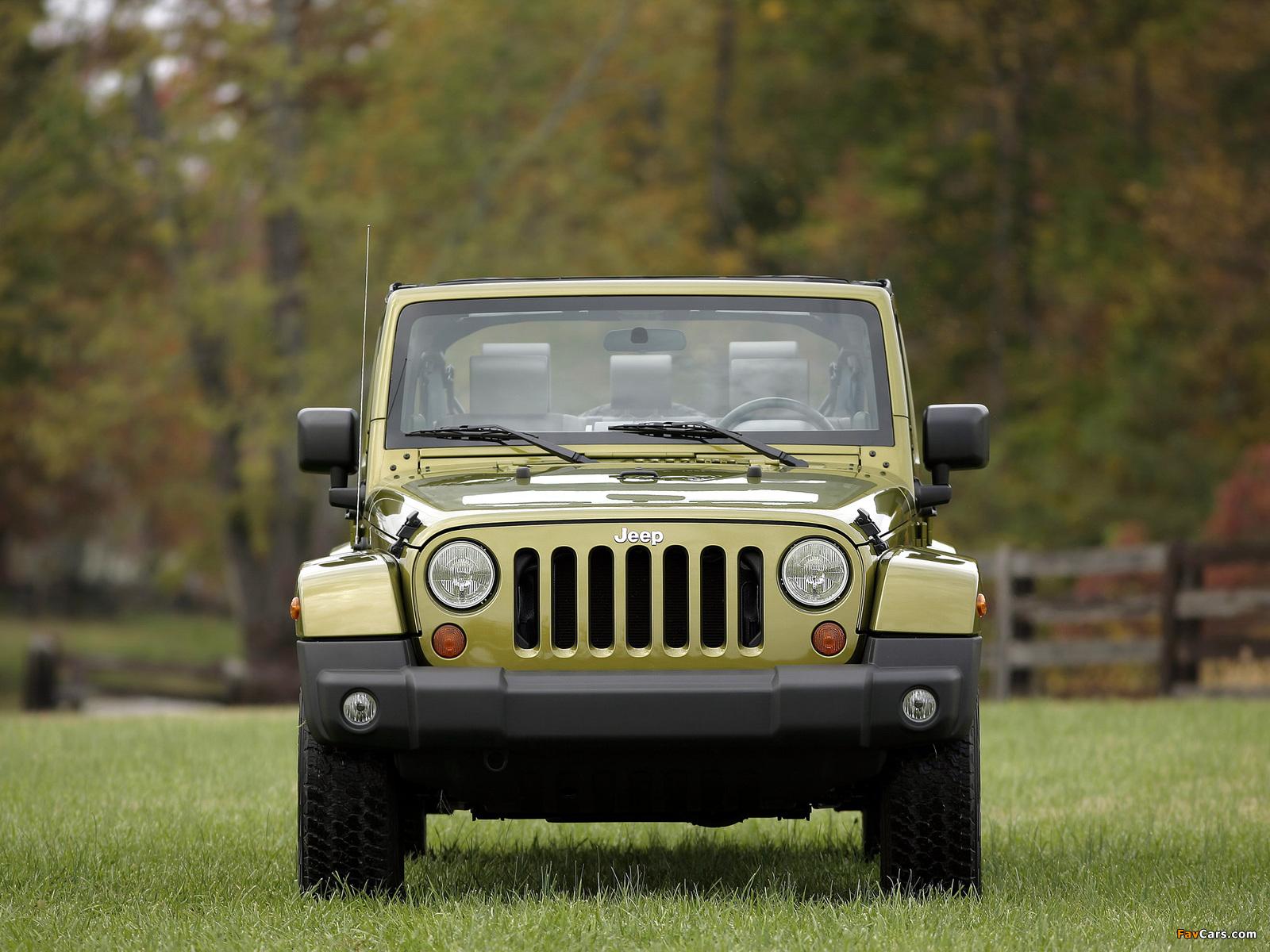 Jeep Wrangler Unlimited Sahara EU-spec (JK) 2007 pictures (1600 x 1200)