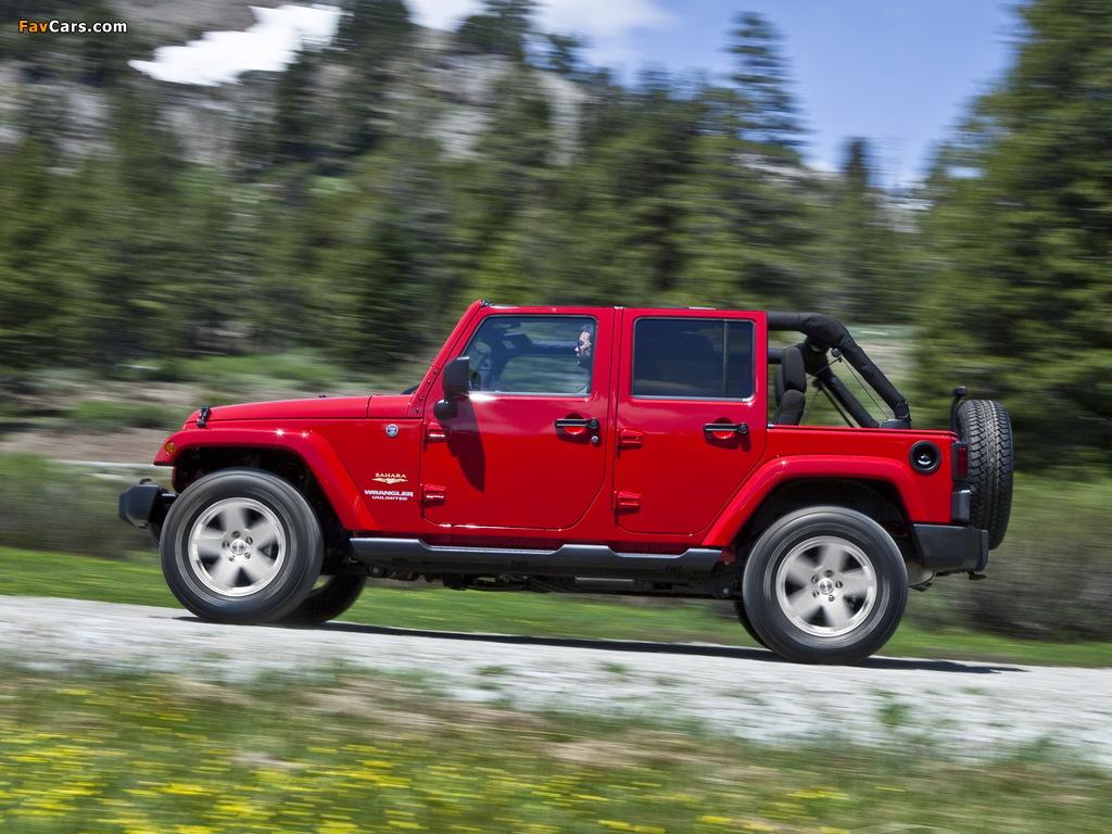 Jeep Wrangler Unlimited Sahara (JK) 2010 pictures (1024 x 768)