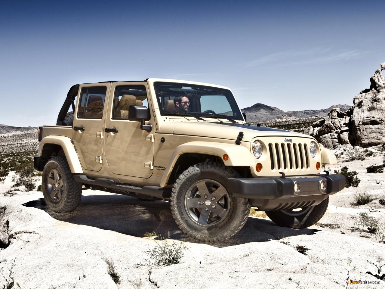 Jeep Wrangler Unlimited Mojave (JK) 2011 photos (1280 x 960)