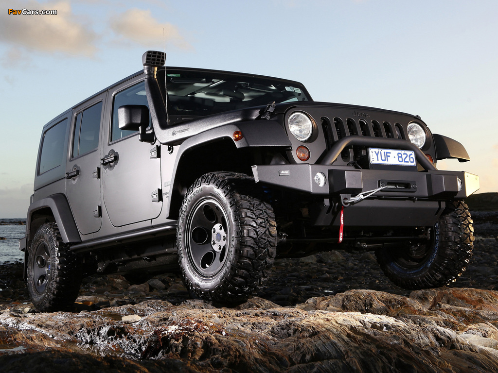 Jeep Wrangler Unlimited Sport AU-spec (JK) 2012 wallpapers (1024 x 768)