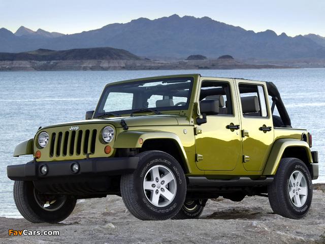 Photos of Jeep Wrangler Unlimited Sahara (JK) 2006–10 (640 x 480)