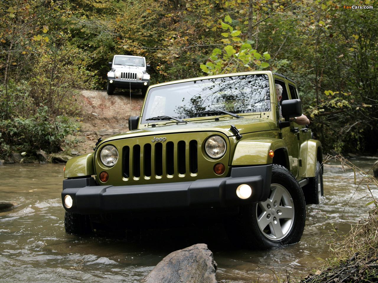 Photos of Jeep Wrangler Unlimited Sahara EU-spec (JK) 2007 (1280 x 960)
